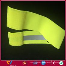 Visão noturna 100% poliéster luminosa tecido faixa elástica reflexiva