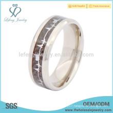 High quality designer titanium with carbon fiber wedding ring