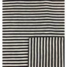 Tissu d'habillement de rayures teintes unies de rayonne de lin de viscose