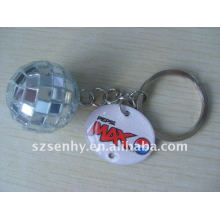 disco ball keyring