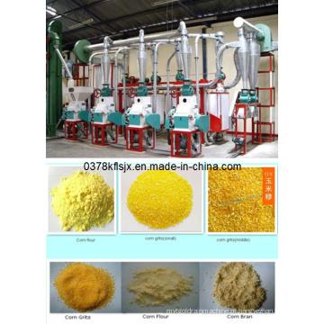 Máquinas de processamento de milho de venda quente com preço, linha de processamento de milho de pequena escala