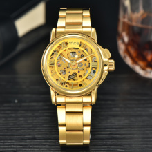 custom face skeleton automatic 24 hour movement mechanical watch