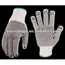 Baumwollhandschuhe mit PVC gepunktet