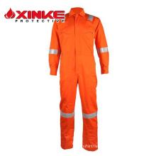100% cotton FR waterproof coverall for FRC workwear
