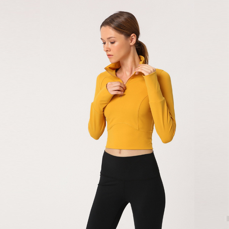 long sleeve yoga crop top hoodie (5)