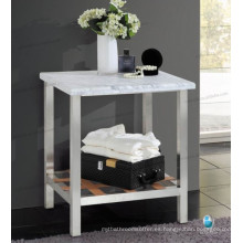 escritorio de acero inoxidable calidad 304 con estante, consola Stone Stainless
