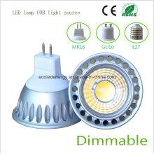 Dimmbale 5W MR16 COB Luz LED