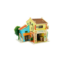 Wood Collectibles Toy for Global Houses-Malaysia Chinatown
