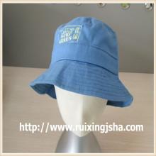 Personalizado luz Jean lavado balde tampa azul e chapéu