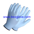 Doublure en polyester 13 Gauge, gant de revêtement en polyuréthane