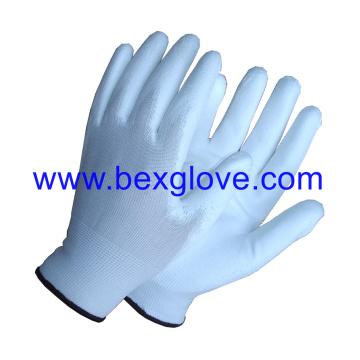 13 Gauge Polyester Liner, Polyurethane Coating Glove