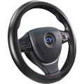 Leathers with bright surface steering wheel cover