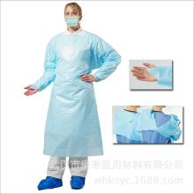 blouse chirurgicale jetable en cpe dos ouvert avec EN13795