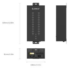 ORICO IH20P Industrial 20 Ports USB2.0 Hub