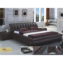 Ciff Hot Sell Leather Bed for Kd Furniture (818)