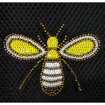Großhandel Bee Machine Bead Stickereiflecken