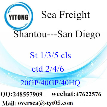 Shantou Port Sea Freight Shipping à San Diego