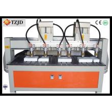 Machine de gravure sur bois de bois de la machine de commande numérique par ordinateur de six découpeuses en bois
