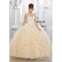 Elegant Crystal Beaded Ballgown Ladies Party Dresses Quinceanera Gown (89154)