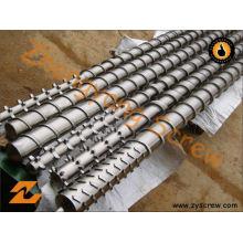 Componentes plásticos da maquinaria do tambor de parafuso da extrusora do tambor do parafuso da extrusão