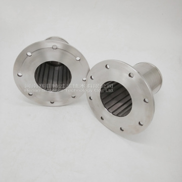 316L SS Wedge Wire Filter med fläns