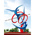 Abstract stainless steel Sculpture - sports figures