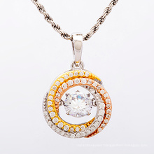 Hot Selling 925 Sterling Silver CZ Pendants for Gift