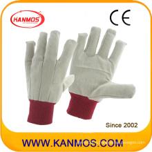 Двойная ладонь Красная манжета Перчатки из хлопка для рабочей перчатки (410012)