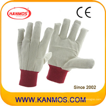 Double Palmed Red Cuff Drill Cotton Industrial Hand Safety Work Gloves (410012)