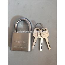 RICHDOOR Brand!!! Top Security Nickle Plated Short Shackle Big Round Corner Vane Key iron padlock