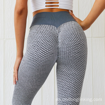 Mujeres Scrunch Butt Yoga Pants Leggings Cintura alta