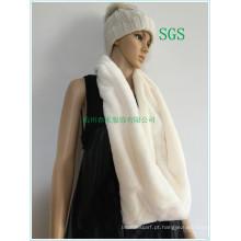 Europa Moda Feminina Natural Red Fox Fur Scarf 2016 Inverno Moda alta qualidade Faux Fur Scarf