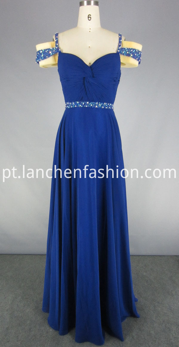Beaded Appliques Prom Dress