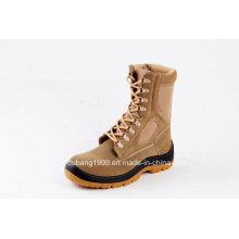 Botas de borracha de couro altas da forma Calçados de segurança de couro das botas de segurança