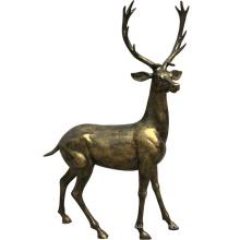 Copper color resin deer reindeer life size fiberglass elk sculpture