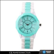 Movimento de relógio de quartzo japão de aço inoxidável, preço relógio de Genebra