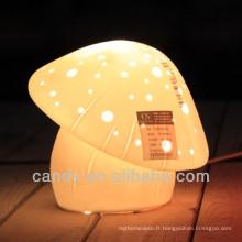 Porcelaine Champignon Lampe de bureau fournisseur