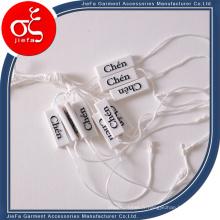 Porte-étiquette de nom en plastique personnalisé / étiquette de verrouillage de chaîne en plastique / étiquette d'étiquette en plastique