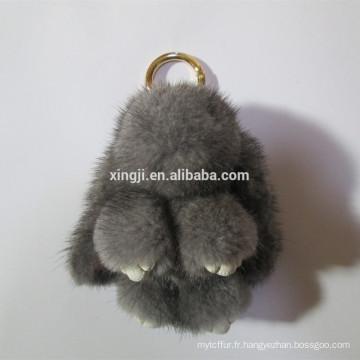forme de lapin fourrure porte-clés fourrure de vison porte-clés