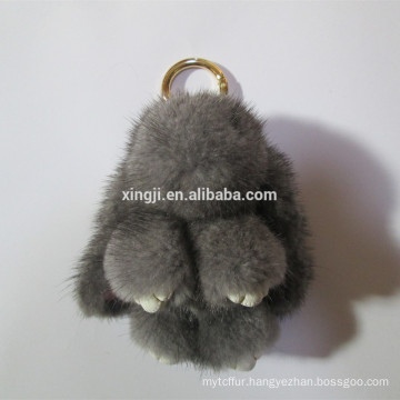 bunny shape Fur Keychain mink fur keychain