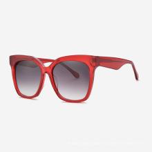 Square Classic Large Size Acetate Women`s Sunglasses