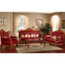 Canapé en cuir en bois pour les meubles de salon (506A)