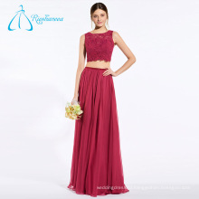 Lace Sequined Beading Chiffon Red China Bridesmaid Dresses