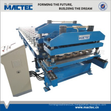 Quality auto double layer tile roof roll forming machine