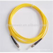 Baixa perda de inserção e cabo de remendo de alta perda de retorno ST 9/125 Single Mode 2.0 mm Fibra Óptica Patch Cord