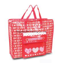 Plastikverpackung Laminierung Nonwoven Zipper Tote Bag mit Außentasche