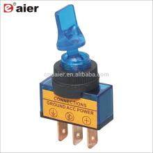 ASW-14D 20A 12VDC SPST 3 Pin ON OFF Interruptor de palanca Lámpara 3 Pin Azul