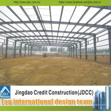 Taller de estructura de acero de bajo costo y aguilón profesional