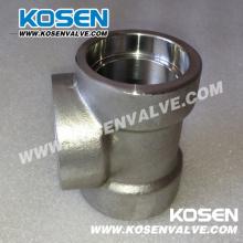 Tee (3000LB) de encaixe de tubulação de aço inoxidável