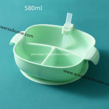 Custom logo eco silicone foldable pet bowl